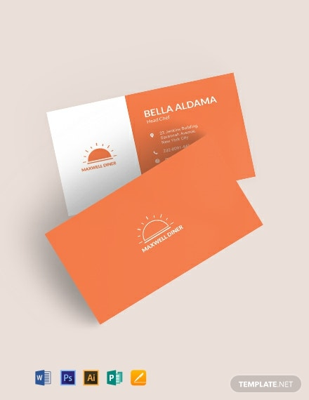 Modern Restaurant Business Card Template