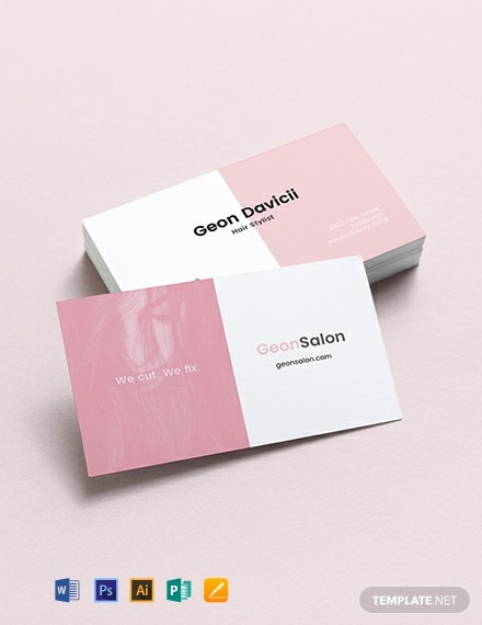 Modern Salon Business Card Template