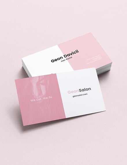 Modern Salon Business Card Template
