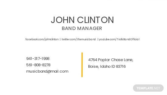 Music Band Business Card Template 1.jpe
