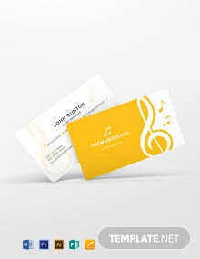 Music Band Business Card Template
