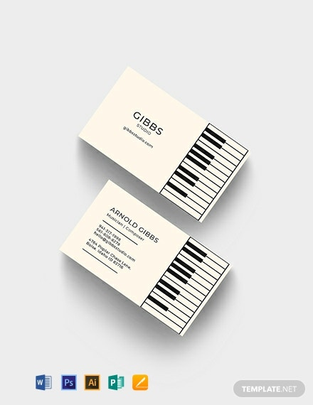 Musician Business Card Template