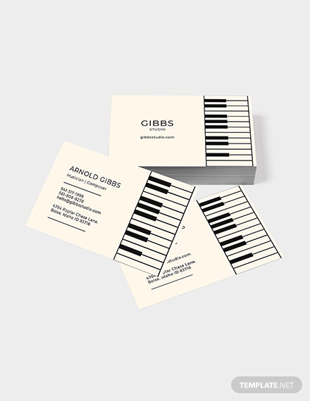 Sample Musician Business Card
