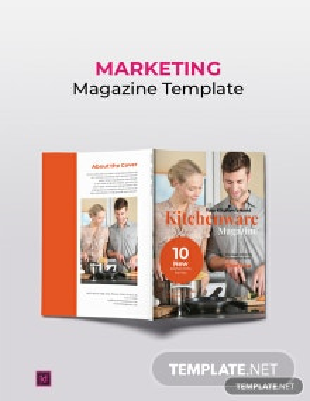 Free Kitchenware Marketing Magazine Template