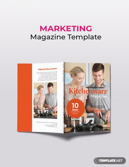 Free Kitchenware Marketing Magazine Template