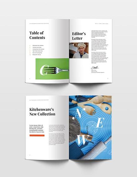 Free Marketing Magazine Template editable