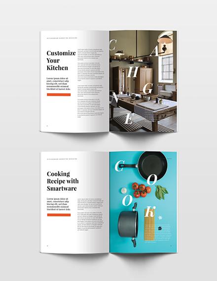 Free Marketing Magazine Template printable