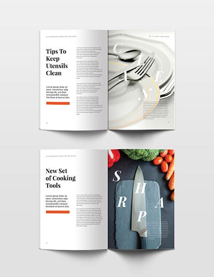 Free Marketing Magazine Template sample