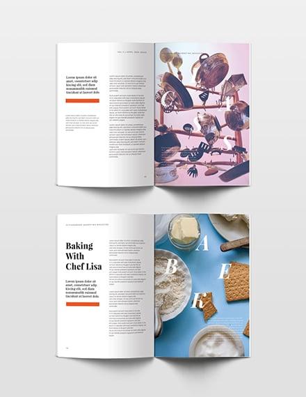 Free Marketing Magazine Template simple