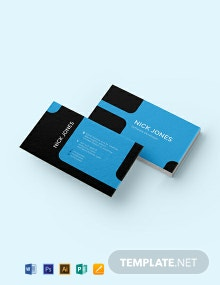 Software Developer Business Card Template