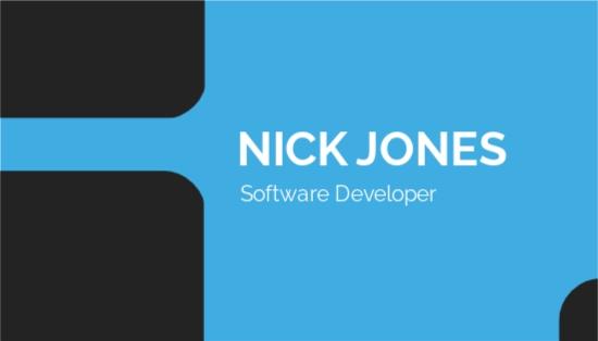 Software Developer Business Card Template