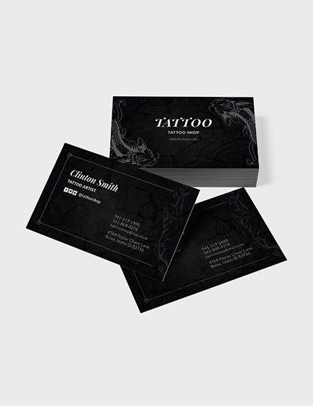 Tattoo Artist Business Card Template Download 155 Business Cards
