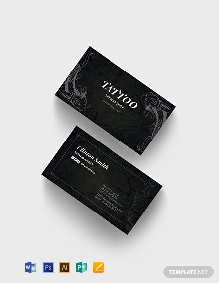 Tattoo Artist Business Card Template