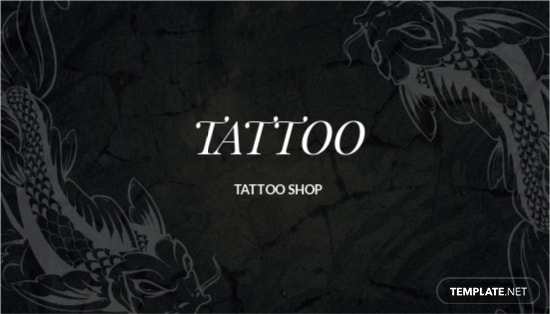 Tattoo Artist Business Card Template