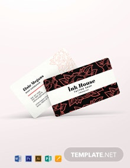 Tattoo Shop Business Card Template