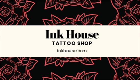 Tattoo Shop Business Card Template.jpe