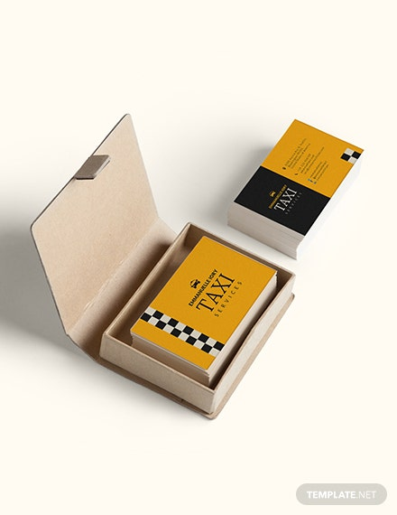 Taxi Service Business Card Sample