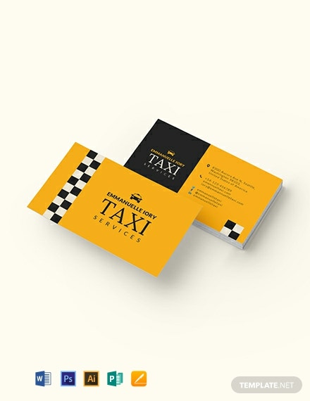 Taxi Service Business Card Template