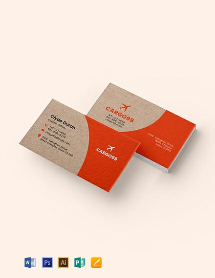 Transport Business Card Template