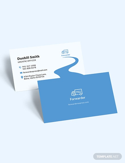 Sample Transport Service Business Card