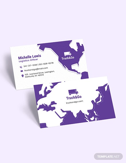 Truck Transport Business Card Download