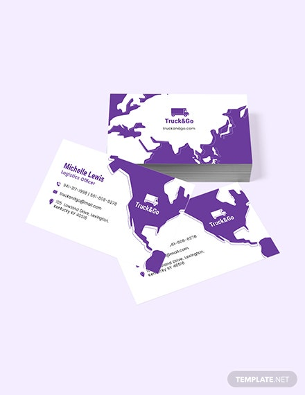 Truck Transport Business Card Sample