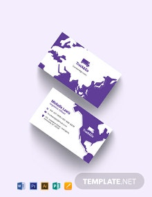 Truck Transport Business Card Template