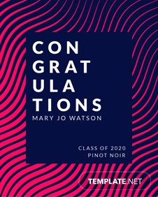 Free Graduation Wine Bottle Label Template