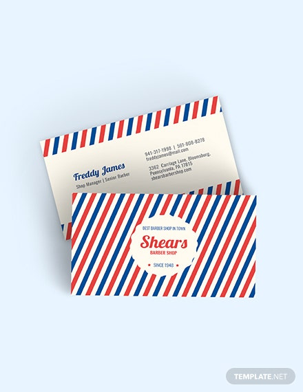 Vintage Barber Business Card Template