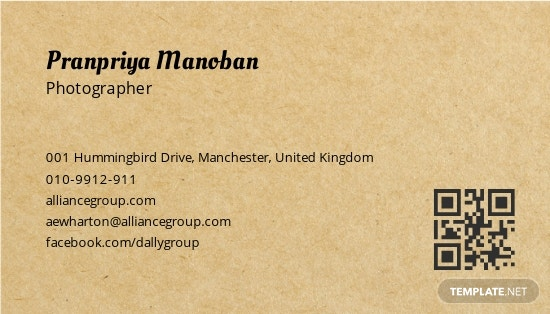 Vintage Style Business Card Template 1.jpe