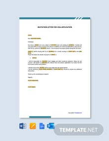 Free Invitation Letter for Visa