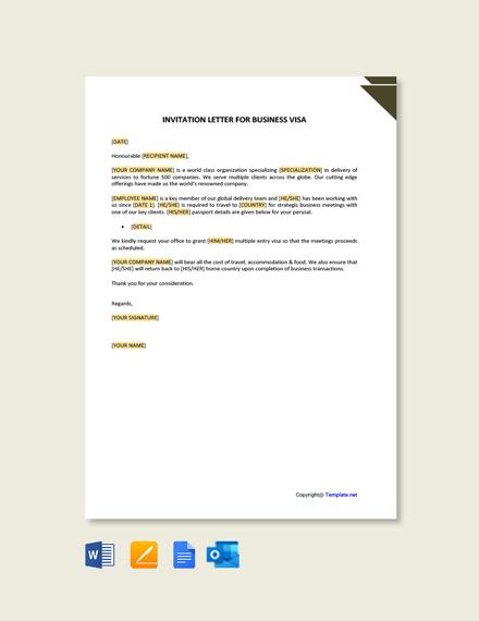 Free Job Invitation Letter for Visa