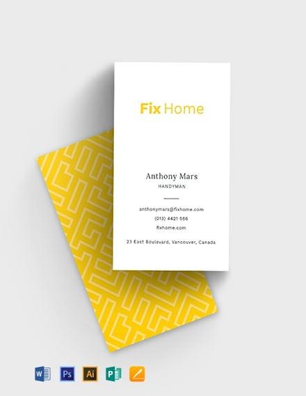 Handyman Service Business Card Template
