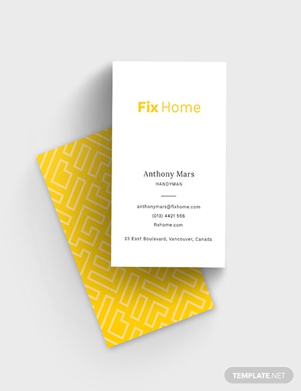 Handyman Service Business Card Template