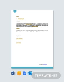 Free Internship Thank You Letter Template