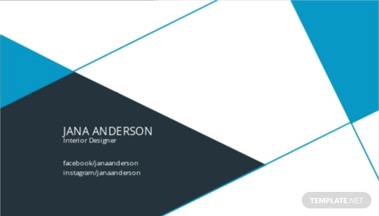 Interior Design Business Card Template [Free JPG] - Illustrator, Word, Apple Pages, PSD, Publisher