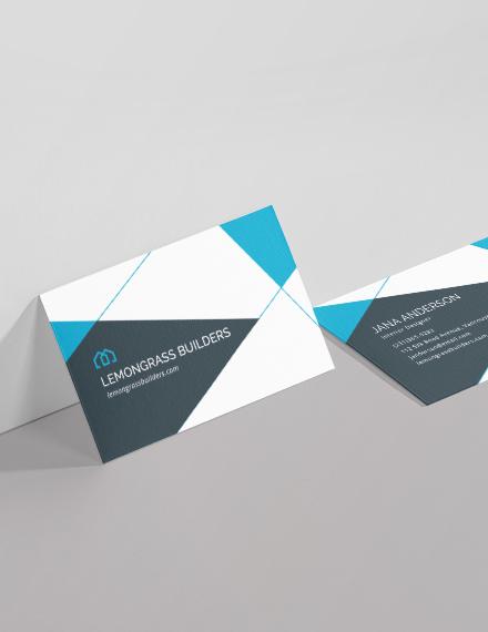 Sample Interior Design Business Card