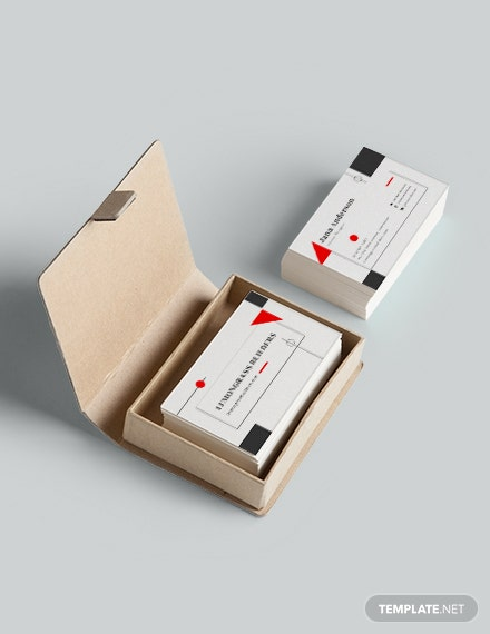 Interior Designer Business Card Sample