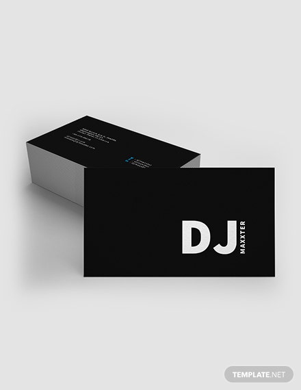 Modern DJ Business Card Template