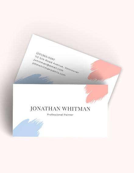 Modern Painter Business Card Download