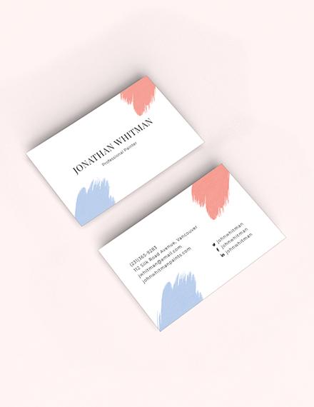 Modern Painter Business Card Sample