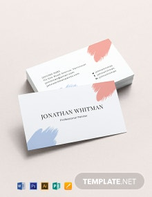 Modern Painter Business Card Template