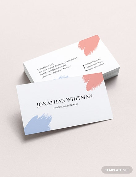 Modern Painter Business Card Template