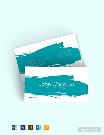 Painter Business Card Template