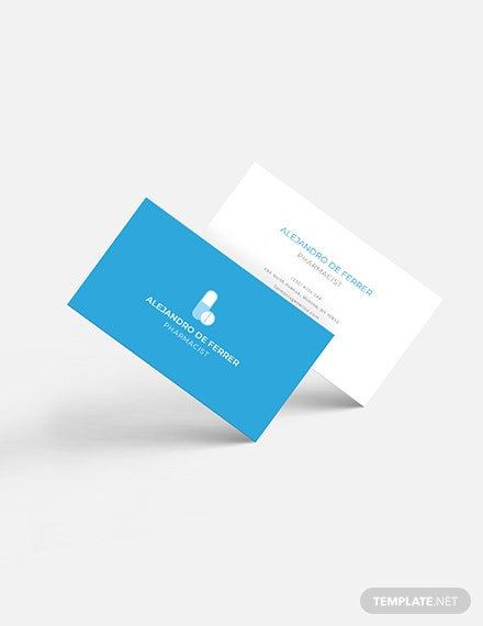 Pharmacist Business Card Download