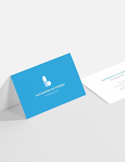 Pharmacist Business Card Sample