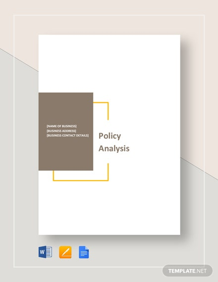 Policy Analysis Template