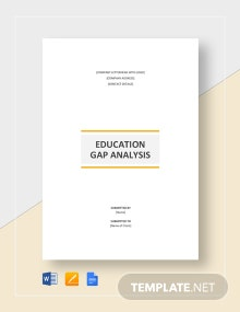 Education Gap Analysis Template