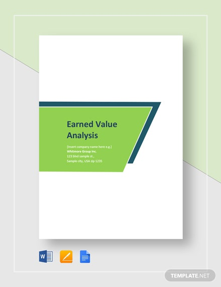 Earned Value Analysis Template