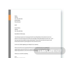 Free Thank You Letter to Parent's Template